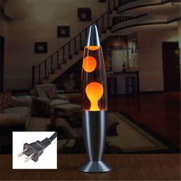 Enchufe de los EE. UU. Lindo 110 V Base de Metal Lámpara de Lava Cera Volcánica Estilo Noche Luz Medusas Luz de Noche Iluminación Incandescente Lava Lámparas desde fabricantes