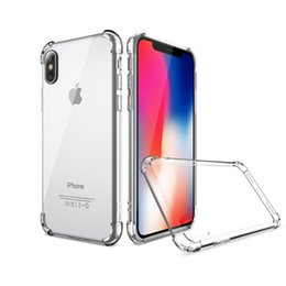 Wholesale soft silicone case lg - Soft TPU Silicone Clear Cases For IPhone X 8 7Plus 6S S9 S8 S7 Edge Anti Shock