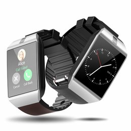 Tarjeta iphone 2g online-Bluetooth reloj inteligente Smartwatch DZ09 teléfono Android llamada Relogio 2G GSM tarjeta SIM tarjeta TF para iPhone Android VS A1 GT08