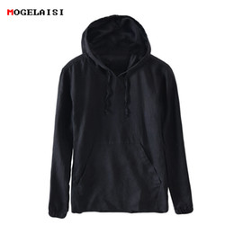Wholesale Sweatshirt Chinese - New Spring Men Hoodies Sweatshirts 100%Linen Solid Men's Hooded Fashion Full Sleeve Chinese Style Hoodied For Men Size M-3XL