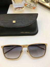 Wholesale Brown Linda - Linda Farrow LFL 629 Square Sunglasses Gold Brown Lenes 58mm Designer Sunglasses size 52-21-145 Brand New with Case Box
