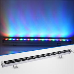 2019 rondella a parete 24v Rondella a parete a LED Rondella a parete RGB 36W Luci di inondazione a LED colorazione luci bar luci barlight Proiettore a LED illuminazione di paesaggio AC 85V-265V rondella a parete 24v economici