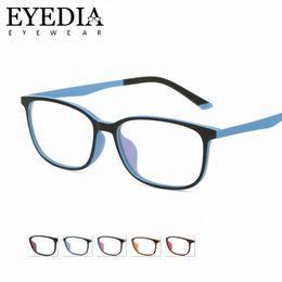 d566c1d28b Nuevo 8g Untralight TR90 Gafas Mujer Hombre Tono de dos tonos Gafas de  plástico flexible de titanio Gafas ópticas Marcos 1655CJ