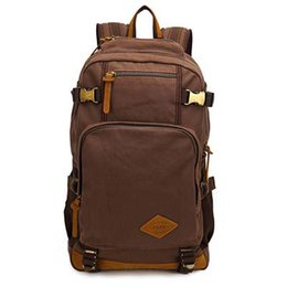 b7863a297ca9 AUGUR Men Backpacks Vintage Canvas Leather Men s Backpack Larger Capacity Travel  Bags For Men Male Schoolbag 14 inch Laptop Bag