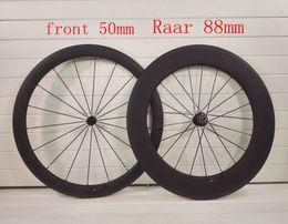 2019 rodas de estrada de carbono china 2018 T1000 UD fibra de carbono 700C frente 50mm Traseira 88mm profundidade rodas de estrada de carbono racking bike wheelset bicicleta taiwan eisen fábrica