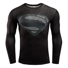 Camisetas hombre adolescente online-Camisetas para hombre de la aptitud de la moda 3D Teen Wolf camisa de compresión de manga larga hombre culturismo Crossfit ropa C10