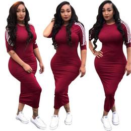 Maxi vestidos de marca online-2018 Nuevo estilo Marca de moda Vestido informal O-cuello Vestido de vendaje Vestido Maxi Vestido largo