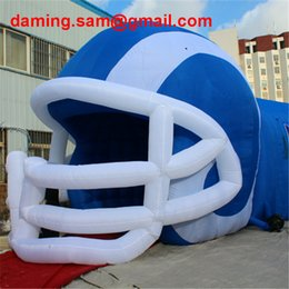 Wholesale Inflatable Tunnels - Attractive Portable giant inflatable football tunnel with helmet,inflatable football helmet tunnel