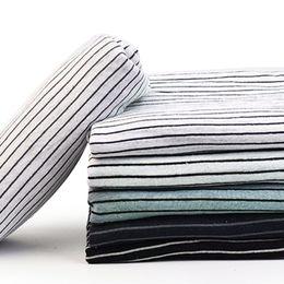 leinenstreifenstoff Rabatt Flaxleinengewebe merzerisierter Baumwollmischungsstreifen für Kleid 50 * 140cm K302243