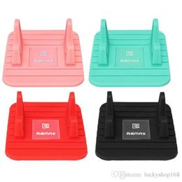 Wholesale universal car mats - New Hot Selling Remax Universal Remax Soft Silicone Car Holder Anti Slip Mat Holder Desktop Stand Bracket For Smart Phone GPS car holders
