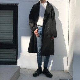 2017 neue Männer Koreanischen Stil Einfarbig Lange Männliche Windjacke Lose  Beiläufige Trenchcoat Mit Kapuze Mode Jacke Oberbekleidung M-xl günstig  jacke ... 7067b8b00c