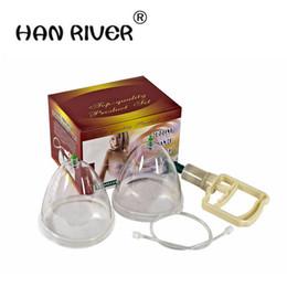 Pompe di coppettazione online-Pompa di ingrandimento del seno per signora Vacuum Cupping Body Massager Enhancement cupping con terapia con pompa di aspirazione Taglia L