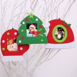 Wholesale Christmas Photo Picture Frame - Hot Fashion Merry Christmas Tree Gloves Hanging Photo Frame Decoration Christmas Picture Frame Home Chirstmas Decoration