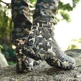 Botas de camuflaje zapatos online-Male Military Tactical Boots Combat Army Outdoor Hiking Shoes Viajes Camping Botas Camuflaje Trekking Shoes Botines