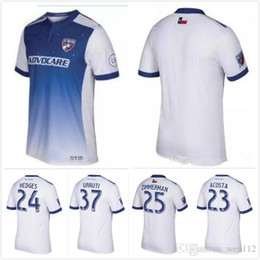 Wholesale Fc Uniforms - Top quality NEW 2017 MLS Dallas Burn Away soccer jersey 17 18 Thai quality FC Dallas Burn football shirt soccER uniform FREE Ship