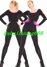 Canada Sexy Lycra Spandex Costume Costume Catsuit Costume Unisexe Body Outfit Unisexe Costume Cosplay Costumes Sexy Avec Des Gants Rose DH120 supplier black lycra gloves Offre