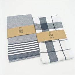 Wholesale tea table cloths - 2pcs 50*70cm Home Essential Cotton Deck Napkin Table Cloth Ethnic Style Roasted Tea Series Mat Pads
