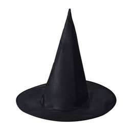 Wholesale party box halloween costumes - Halloween Party Wider Hat Black Witch Hat For Halloween Adult Womens DIY Costume Accessory Photography props P15