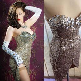 usura della fase d'argento Sconti Luxury Glisten Silver Full sequin Dress Lampeggiante Sexy Stage Wear Abiti corti Tube top Costume Celebrare Abiti Outfit