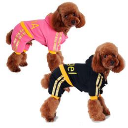 sudaderas rosas para perros grandes. Rebajas Impresión del ángel ropa para perros Mascota suéter caliente ocasional Cuatro patas linda sudadera Nueva llegada Encantadora rosa con capucha para perros