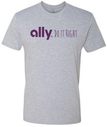 Wholesale custom online printing - ALLY Financial online banking t-shirt Mens 2018 fashion Brand T Shirt O-Neck 100%cotton T-Shirt Tops Tee custom Environmental printed Tshirt