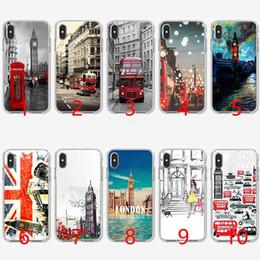 étuis drapeau iphone Promotion Style londonien Big Ben téléphone Case flag Coque en TPU souple en silicone pour iPhone 5 5S SE 6 6S 7 8 Plus X XR XS Max Couverture