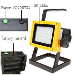 batería led portátil proyector Rebajas 10000LM 10W LED Luz de inundación Recargable Led de luz de litio 18650 Batería 20leds Lámpara de inundación Luz portátil Ip65 Lámpara de trabajo Reflector