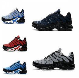 Wholesale Competitive Sports - 2018 men's air mattress TN running shoes black fashion competitive walking training men's jogging tennis shoes men training sports shoes