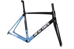 Wholesale blue racing seats - 2018 Ultra Light Carbon Road Bike Frame Racing Bicycle Frame+Fork+Seat Post+Headset+Handlebar+(BB86 adapter)