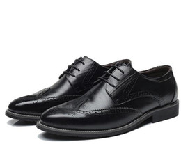 zapatos de vestir amarillos Rebajas Negro Amarillo Marrón Azul Hombres Zapatos de vestir de cuero Negocio Formal Hombres Oficina con cordones Zapatos Oxford Forma Hombres Más Tamaño 38-46