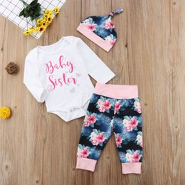 2018 Emmababy Cute Newborn Baby Girls Tops Sister Romper Floral Pants Hat  Outfit Set Autumn Casual Clothes 42c8336b9a6a