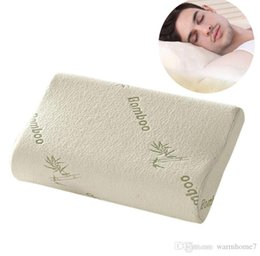 Wholesale pillow fiber - Naturelife Bamboo Fiber Pillow Slow Rebound Health Care Memory Foam Pillow Memory Foam Pillow Support The Neck Fatigue Relief +NB