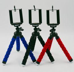 Universelle selbststäbchen online-Flexible Octopus Stativ Handyhalter Universal Stand Handy Auto Kamera Selfie Stick Einbeinstativ mit Clip