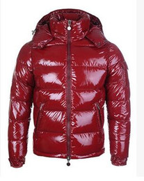 Giacche lucide online-CALDO degli uomini di marca Casual piumino Down Down Cappotti Mens Outdoor collo di pelliccia caldo uomo inverno caldo cappotto spesso outwear giacche parka