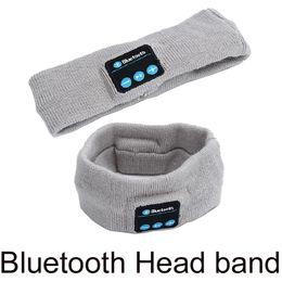 micrófono suave Rebajas Banda para la cabeza Auriculares inalámbricos Bluetooth Sleep Diadema Sombrero Soft Warm Sports Smart Cap Altavoz inteligente Auriculares estéreo con micrófono