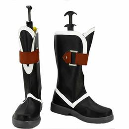 Wholesale final cosplay - Final Fantasy Type-0 Kurasame Cosplay Shoes Boots Custom Made