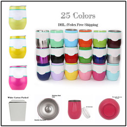 Wholesale Food Coffee - 2018 New 6~12hrs Thermal 9OZ Food Grade Stainless Steel Coffee Mugs Stemless Egg Cups Gadgets In STOCK