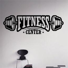Arte sana online-Spedizione gratuita Fitness Center Adesivo Allenamento Palestra Autoadesivo Del Vinile Healthy Lifestyle Home Decor Wall Art Murales Decalcomanie C06