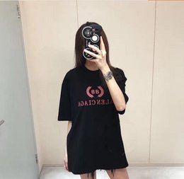 Wholesale Men S Double Collar Shirts - men women Spring summer 2018 new fashion and leisure wear double B letter printed T-shirt round collar short sleeve blouse.