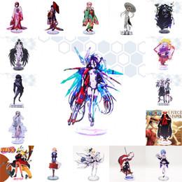 Anime No Game No Life Zero Acrílico Stand Figura Tokyo Ghoul Destino grande ordem Naruto Re: Zero Kara Hajimeru Isekai Seikatsu Stand Figura Toy de Fornecedores de atacado chaveiros coreia