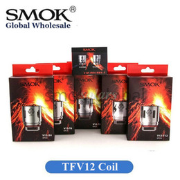 Wholesale cloud vape - 100% Original SMOK TFV12 Coil Head Replacement V12 T12 T8 T6 X4 Q4 Atomizer Heads Cloud Beast King Vape Cores Authentic Smoktech