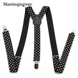 Wholesale Black Suits Suspenders - Mantieqingway Unisex Suit Braces Galluses With 3 Clip Men's Adjustable Suspenders Casual Elastic Straps For Women Shirt Garters