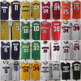 Wholesale Uconn Basketball - Men Uconn Huskies Wake Forest 21 Tim Duncan Chris Paul 15 Kemba Walker Buddy Heild Oklahoma Sooners College Basketball Jerseys
