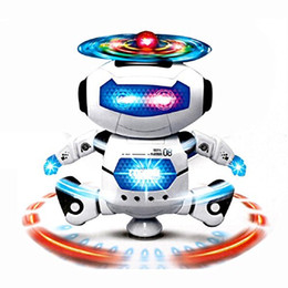 Wholesale Fun Flash Toys - Dancing Robot Musical And Colorful Flashing Lights Kids Fun Toy 360° Body Spinning,Have Fun, Develop Fine Motor Skills