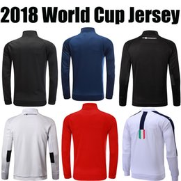 Wholesale Italy World Cup Jerseys - GERMANY ENGLAND USA ITALY FRANCE MBAPPE BLACK football futball 2018 world cup jerseys soccer jacket outdoor training hoodie top quality