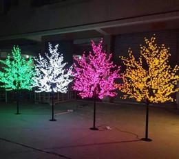 fiore m Sconti 1.5 m 1.8 m 2 m 2.5 m 3 m Lucido LED Cherry Blossom Albero di Natale Illuminazione Impermeabile Decorazione del Paesaggio del Giardino Lampada Per La Festa Nuziale Christma