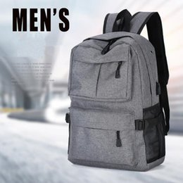 Wholesale Nylon Notebook - 4 Colors 22inch External USB Charge Laptop Backpack Anti-theft Notebook Computer Bag Leisure Travel Backpack CCA8625 10pcs