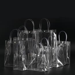 2019 маленькие ручки для мини-сумок Свободная перевозка груза 13 * 15 * 7CM прозрачные мешки дисплея маленькие, прозрачные мешки PVC PVC прозрачного мешка ручки косметический пакет 10pcs / lot скидка маленькие ручки для мини-сумок