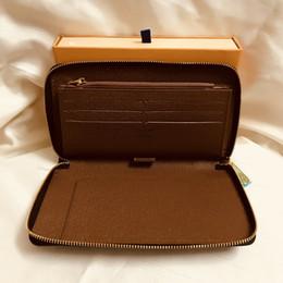 Preço vintage on-line-M60002 Designer De Luxo Organizador Zippy Organizador Carteira Zipper Longo Carteira Mono Gram Canvers Couro Frete Grátis Preço de Atacado