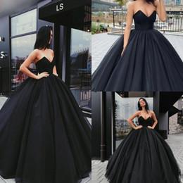 Wholesale Brown Prom Dress Sweetheart Neckline - 2018 Black Prom Dresses Long Evening Dresses Party Wear Ball Gown Sweetheart Neckline Backless Floor Length Vestidos De Fiesta Plus Size